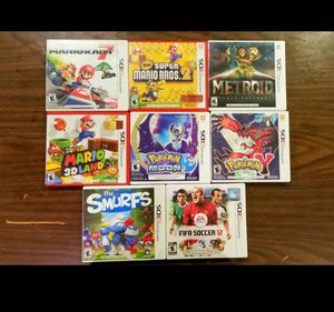 Excellent Condition Games in Case 4 Nintendo 3DS / 2DS / DS lite for Sale in Riverside, CA