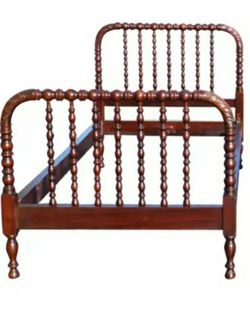 Antique 19th C Solid Mahogany Twin Size Jenny Lind Spindle Spool Bed Frame for Sale in Orlando,  FL