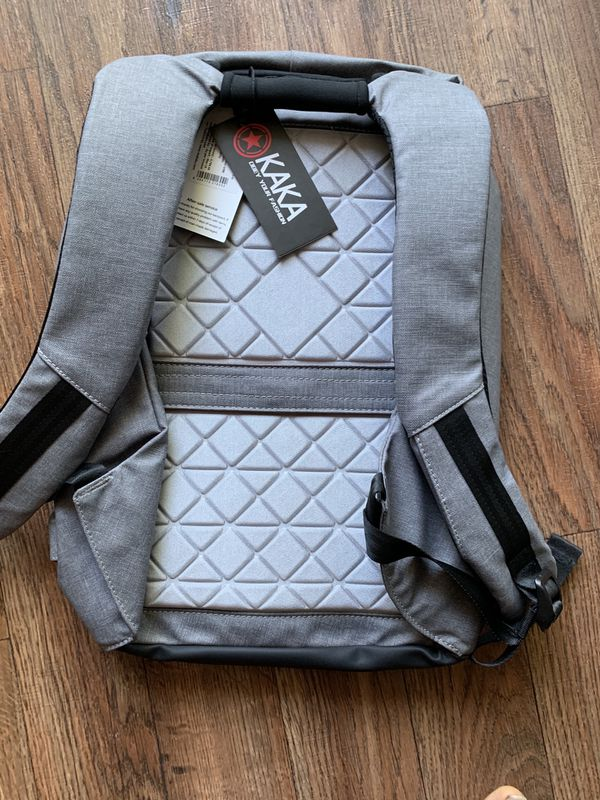 Laptop Backpack Laptop Bag with in-Build USB Charging Port for Work - Grey. Can fit 15.6 inch laptop