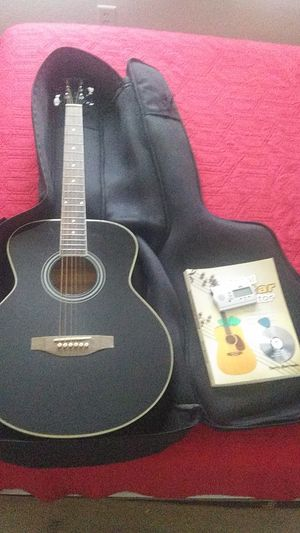Carlo robelli guitar with bag tuner picks and tutor book for Sale in Fontana, CA