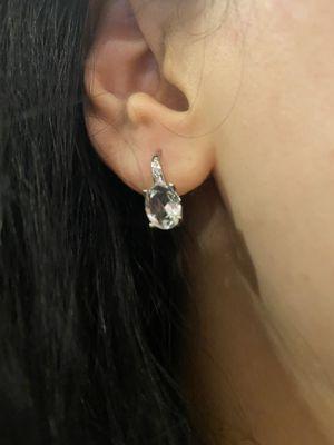 Cute Silver Earrings - Clear for Sale in Houston, TX