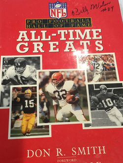 All-time football greats With our Autographs by Billy Wilson Leo Minnelli and Joe Perry for Sale in Fresno,  CA