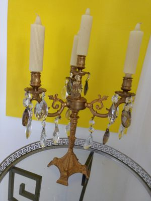 1920's french brass candelabras for Sale in West Palm Beach, FL