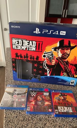 Ps4 pro w/ 3 games 2 controller + charging dock for Sale in Adelphi, MD
