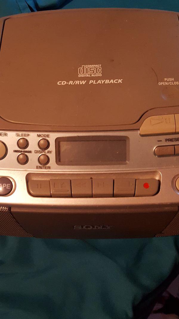 Cd player and radio
