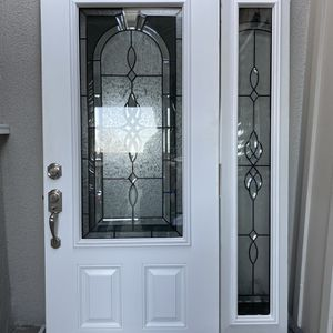 Beautiful Barely Used White Door with Frame. 50 inches length and 78 inches height. for Sale in Los Angeles, CA