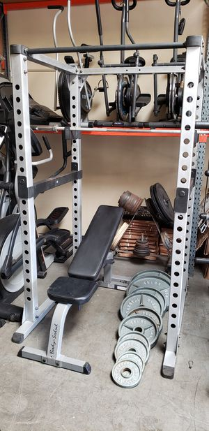 Body Solid squat rack/ powercage/ bench press for Sale in Anaheim, CA