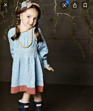 Matilda Jane Girls Sz 4T You & Me Long Sleeve Dress Smocked Floral Print boutique designer for Sale in Rogers, MN