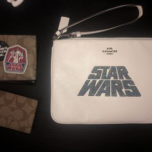 Star Wars X Coach Leather Wristlet & Wallet for Sale in Fontana, CA