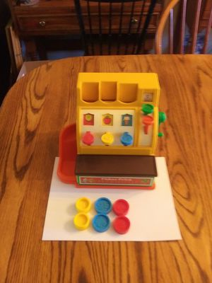 Vintage Fisher Price Cash Register with Coins - Works - $20.00 for Sale in St. Louis, MO