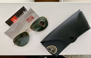 Ray-Ban Sunglasses, G-15 Lens, Brand New. Comes in case and box for Sale in Rincon, GA