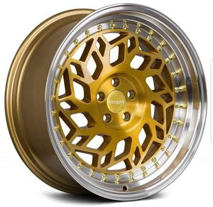 "18"" inch Regen5 R32 Gold machined wheel rim & tire packages available! No credit financing! for Sale in Chandler, AZ"