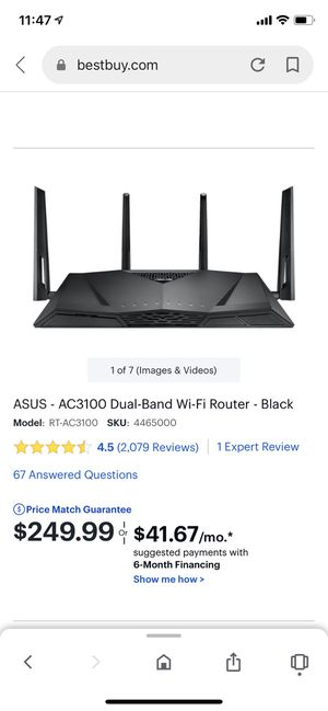 ASUS AC3100 Dual-Band Router for Sale in Queens, NY
