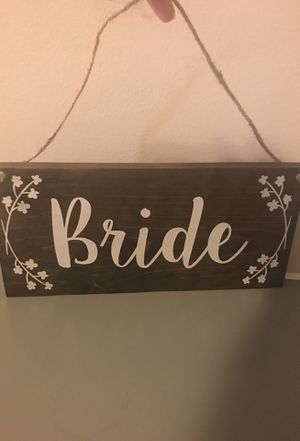 Groom and Bride chair signs for Sale in Atlanta, GA