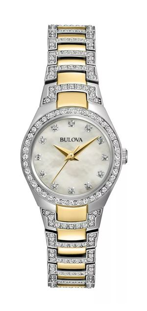 """🚺👩""""LADIE'S"""" BRAND NEW LUXURY CRYSTAL'S 2 TONE COLOR BULOVA WATCH. for Sale in Hazard, CA"""