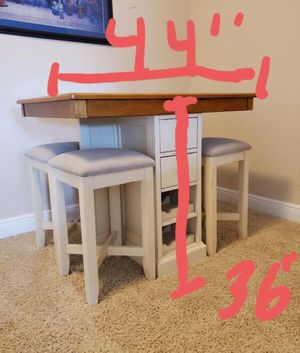 Multi-functional 4 chair table for Sale in Orlando, FL