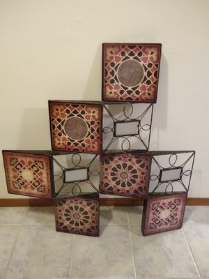 Mosaic inspired decor with pictures holder for Sale in Beaverton, OR