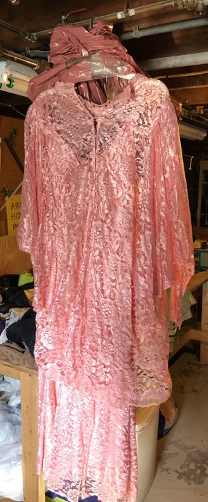 Retro Pink Evening Dress / No Tag / 16-18? / 1980's for Sale in Baltimore, MD