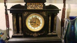 Antique black marble clock for Sale in Phoenix, AZ