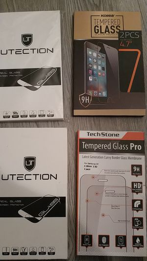 Glass screen protectors. for Sale in Houston, TX