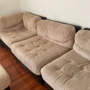 Large Modular Couch & Ottoman for Sale in Atherton, CA
