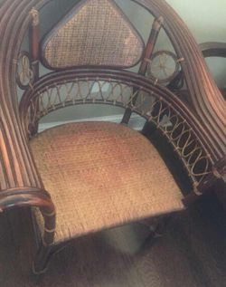 Antique wood decorative chair- bamboo for Sale in Woodstock,  GA