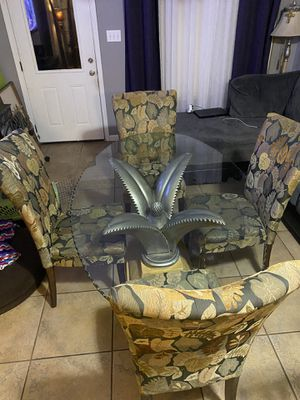 Palm tree table set & shelf for Sale in San Antonio, TX