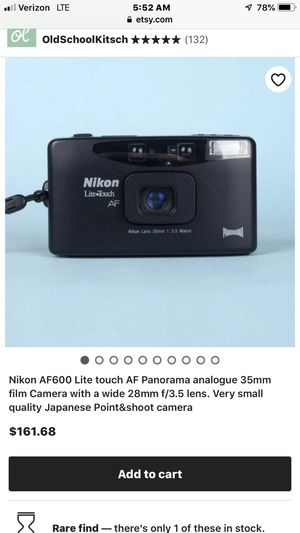 VINTAGE NIKON RARE! Nikon lite touch vintage camera perfect condition BEST OFFER for Sale in Newton, MA