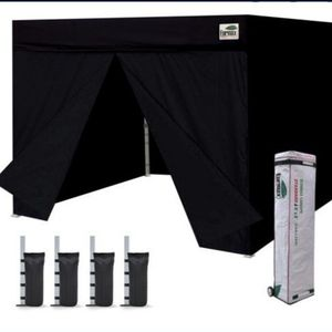 8x8 Flat Canopy Tent Black Fully Enclosed for Sale in Rialto, CA