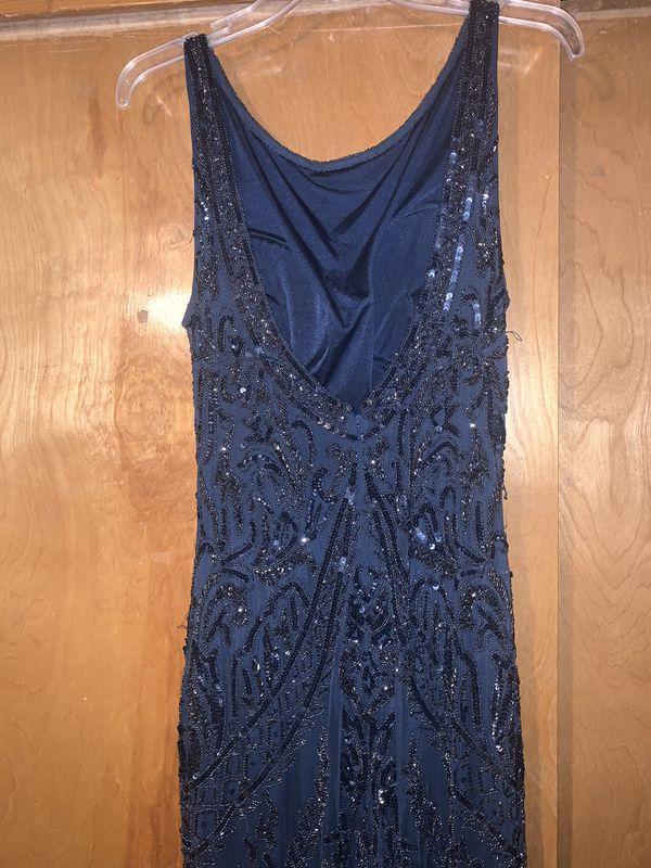 SCALA size 16 long navy blue dress