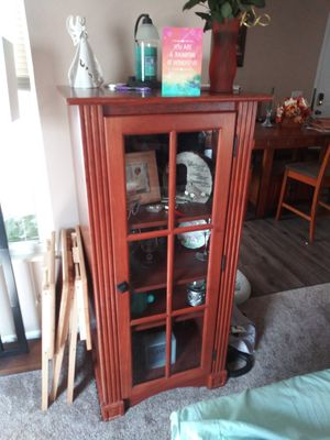2 glass door cabinets for Sale in Westlake, OH