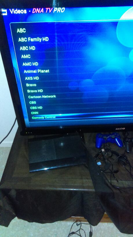 Android box filled with programs