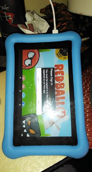 Amazon fire kids tablet 7' 60$ has protector 16 gbs. for Sale in North Las Vegas, NV