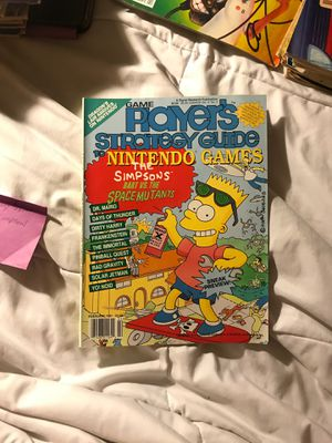 Game players strategy guide to Nintendo games The Simpsons Bart versus the space mutants for Sale in Eau Claire, WI