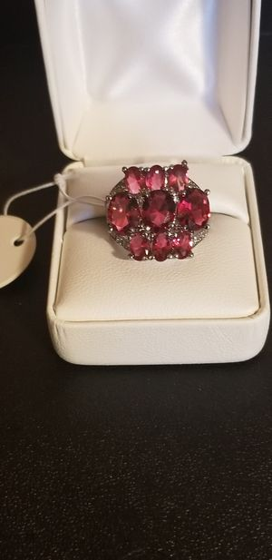 BEAUTIFUL DIAMOND WITH RUBY STERLING SILVER for Sale in Fairfax, VA