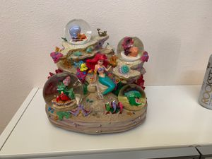 1980s VINTAGE The Little Mermaid Under The Sea Snowglobe Disney Collection Water Globe for Sale in Aloha, OR