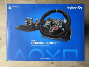 New Logitech Driving Force G29 Gaming Racing Wheel with Pedals PlayStation 4 PS4 PS3 for Sale in MD CITY, MD