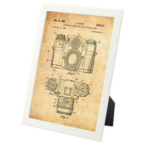Vintage 35mm Camera patent design - framed print for Sale in Fairfax, VA