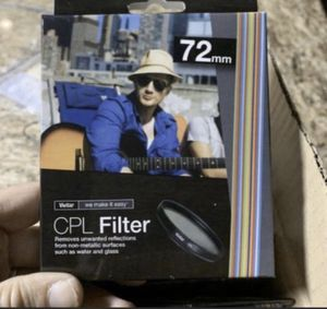 New! Pack of 10-72mm CPL filters for Sale in Arlington, TX