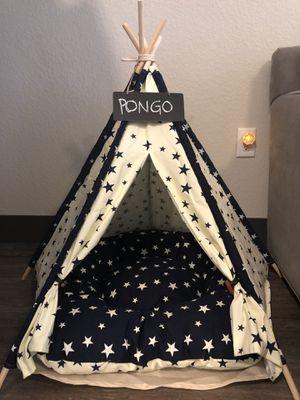 Pet dog cat tipi tent house bed for Sale in Denver, CO