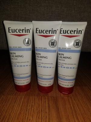 3 Eucerin skin calming 8oz for Sale in Lanham, MD
