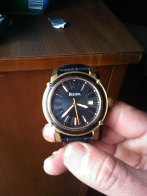 Bulova leather watch for Sale in Madera, CA
