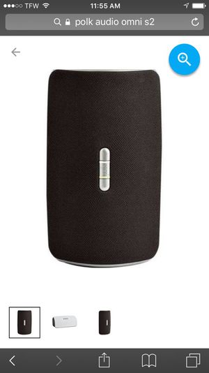 Polk audio Omni s2r rechargeablewireless speaker with Bluetooth adapter for Sale in Dallas, TX