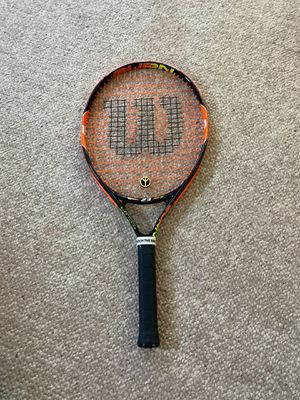 Wilson Burn junior 23 Tennis racket for Sale in Turlock, CA