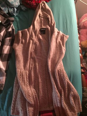 Small short sleeve hooded Cardigan for Sale in Appomattox, VA