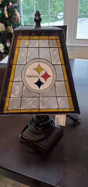 Pittsburgh Steelers stain glass desk lamp for Sale in Forest, VA