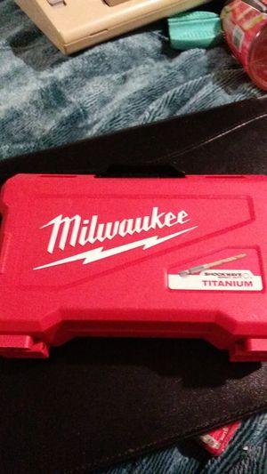 Milwaukee Titanium drill bit set for Sale in Denver, CO