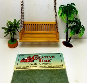 DOLLHOUSE MINIATURE PORCH SWING GRASS PALMS for Sale in Rancho Santa Margarita, CA
