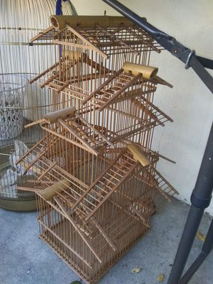 Vintage Chinese bamboo bird cage for Sale in San Jose, CA