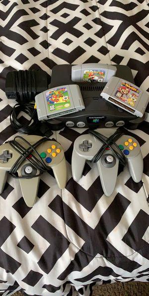 Nintendo 64 bundle with Mario games for Sale in Phoenix, AZ